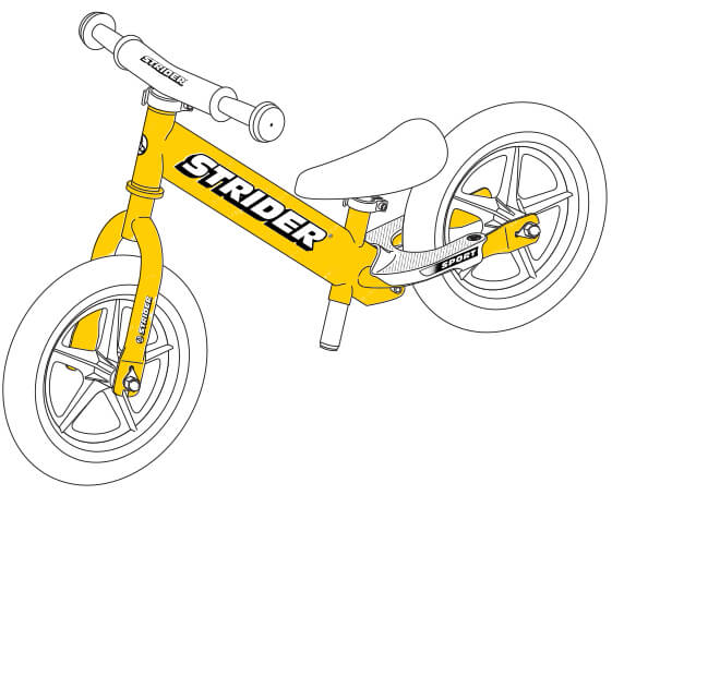 illustration Strider 12 Sport balance bike frame