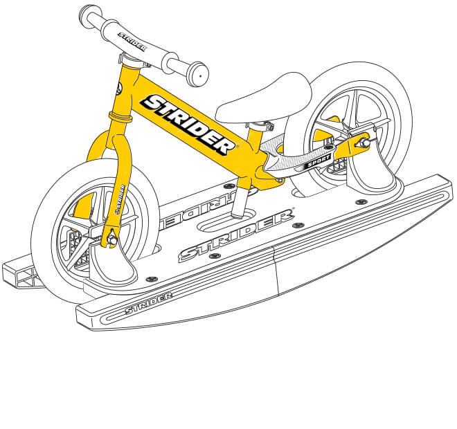 illustration Strider 12 Sport Baby Bundle frame