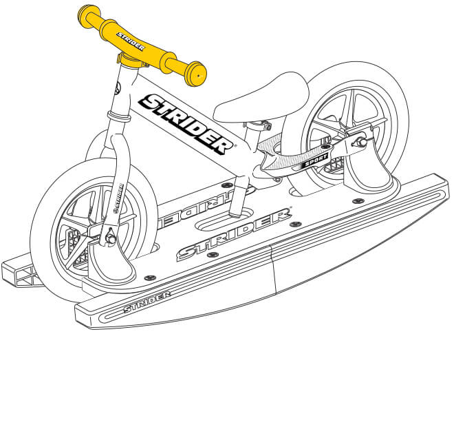 illustration Strider 12 Sport Baby Bundle handlebar