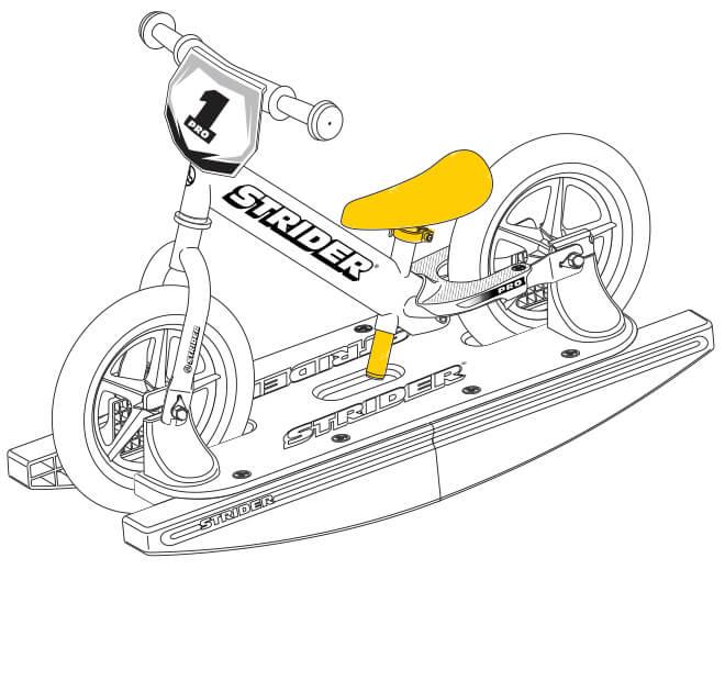 illustration Strider 12 Pro Baby Bundle seat