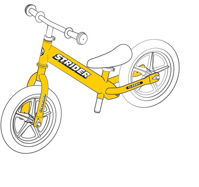 illustration Strider 12 Classic balance bike frame