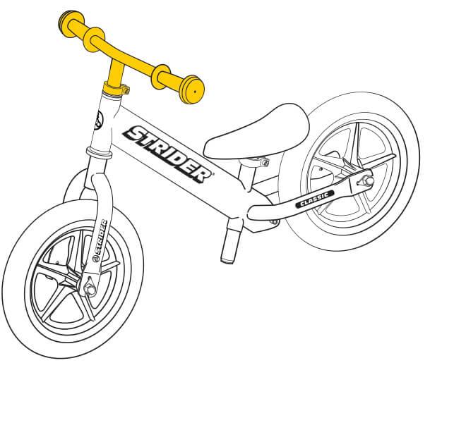 illustration Strider 12 Classic balance bike handlebar