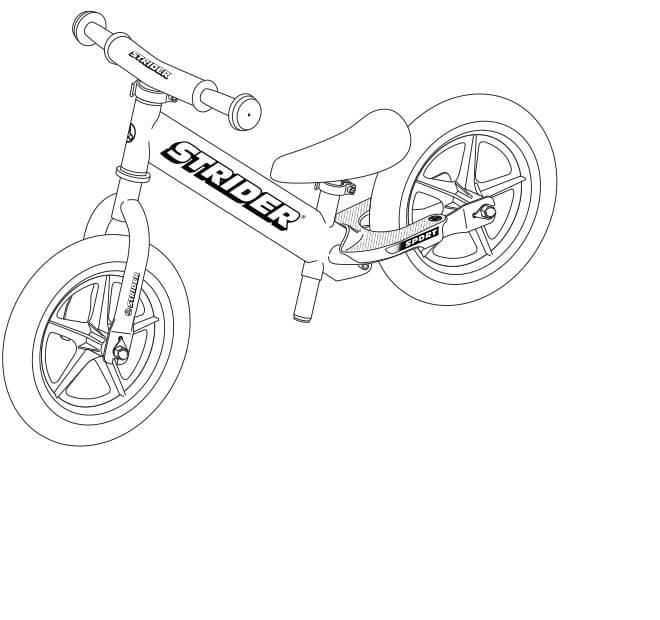 illustration Strider 12 Sport balance bike full specs